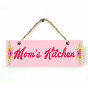 Custom Wallsticker Hanging Wood Pajangan Kayu Mom's Kitchen