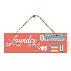 Custom Wallsticker Walldecor Kayu Pajangan Susun Laundry Corner