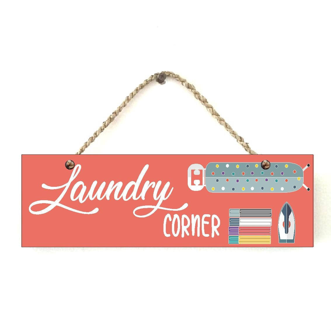Custom Wallsticker Hanging Wood Pajangan Kayu Laundry Corner