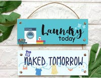 Custom Wallsticker Walldecor Kayu Pajangan Susun Laundry Today
