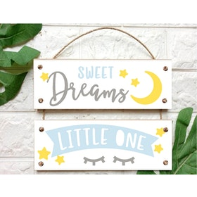 Custom Wallsticker Walldecor Kayu Pajangan Susun Sweet Dreams