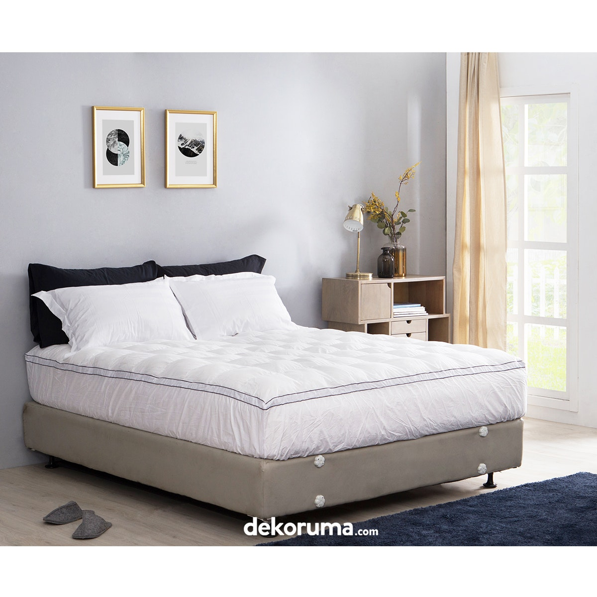 Cozylila Mattress Topper 100persen Down Feather 160x200x40cm