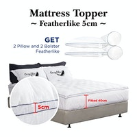 Cozylila Mattress Topper Featherlike Set 2 Pillow 2 Bolster Double List 5cm 180 x 200