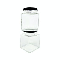 Dama Diamond Jars Set (set of 2 jars)