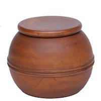 Dama Wooden Jar