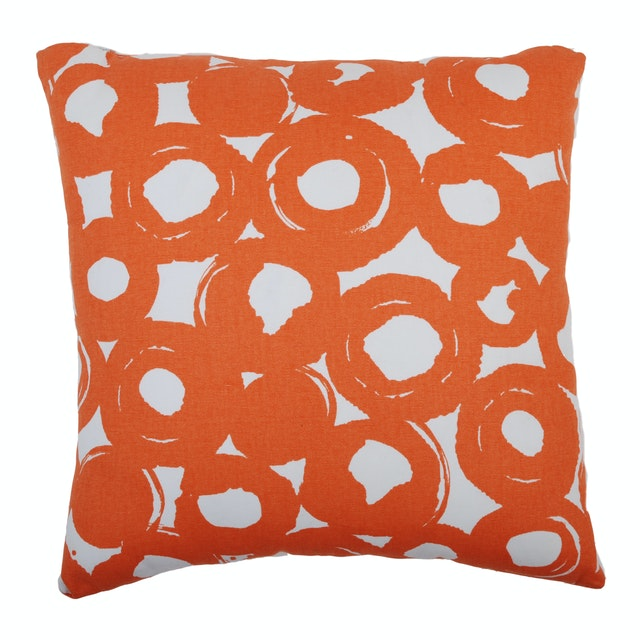 "Dama Cushion Cover ""Orange Circle"""