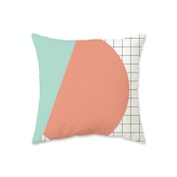 Decorio Sarung Bantal - Circle Grid 40x40cm