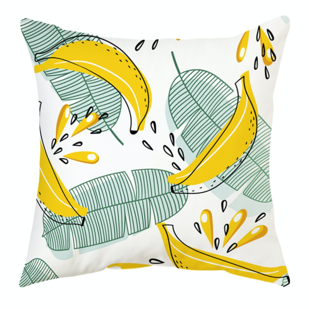 Decorio Sarung Bantal - Banana Leaf 40x40cm