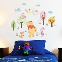 Interior DIY Sticker Dinding Pooh Piglet Tree - DS 58370
