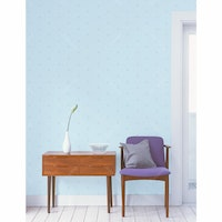 Interior DIY Hyundae Fixpix Wallpaper GP 11520 Soft Blue 50cm x 15m (Tanpa Lem)