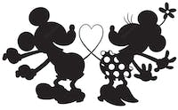Interior DIY Graphic Sticker Love Mickey Purple DGC 54015 Wallsticker