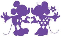 Interior DIY Graphic Sticker Love Mickey Purple  DGC 54014 Wallsticker