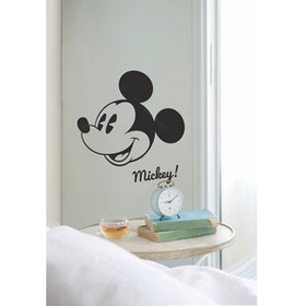 Interior DIY Graphic Sticker Mickey's Head Black - DGC 54009 Wallsticker Dinding