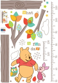 Interior DIY Wallsticker Dinding Pooh-o-meter DS 58369