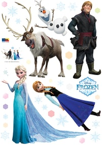 Interior DIY Wallsticker Dinding Happy Frozen DS 56199