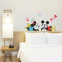 Interior DIY Wallsticker Dinding Love Mickey DS 56193