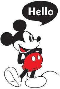 Interior DIY Graphic Sticker Mickey Say Hello - DGC 54006 Wallsticker