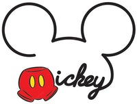Interior DIY Graphic Sticker Mickey DGC 54005 Wallsticker Dinding