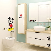 Interior DIY Graphic Sticker Love Mickey DGC 54007 Wallsticker Dinding
