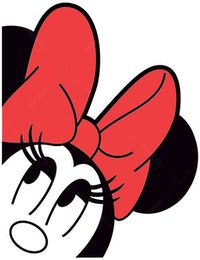 Interior DIY Graphic Sticker Minnie's Head DGC 54003 Wallsticker Dinding