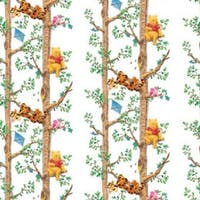 Interior DIY Wallpaper Sticker Dinding Pooh Tree Climbing White - DG 11915