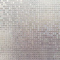 Interior DIY Hyundae Glass Sheet Kaca Film HSW 32201 Small Square Tiles - 90cm x 2m