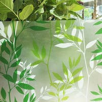 Interior DIY Stiker Kaca Film Greenies Leaf - HPG 31829 Glass Sheet