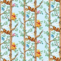 Interior DIY Wallpaper Sticker Dinding Pooh Tree Climbing Blue - DG 11914
