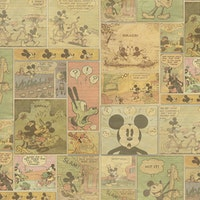 Interior DIY Wallpaper Sticker Mickey Stories - DHK 23201 Meteran