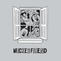 Interior DIY Graphic Sticker Mickey and Friend in Window DGC 54008
