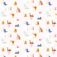 Interior DIY Wallpaper Sticker Dinding DG 11917 Pooh Numbers Pink Meteran