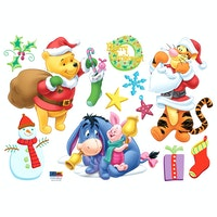 Interior DIY Wallsticker Dinding DSC 58391 Pooh Christmas