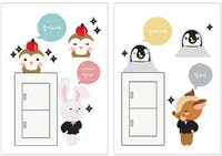 Interior DIY Wallsticker Dinding SS 58253 Cute Fox Switch Cover