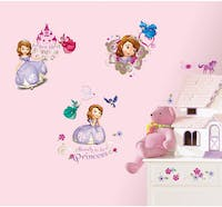 Interior DIY Sticker Dinding Anak Disney Sofia The First Wall Decals RMK 2294 SCS (4 lembar)