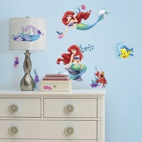 Interior DIY Sticker Dinding Anak The Little Mermaid Wall Decals RMK 2347 SCS (4 lembar)