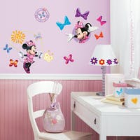 Interior DIY Sticker Dinding Anak Disney Minnie Mouse Bow-tique Wall Decals RMK 1666 SCS (4 lembar)