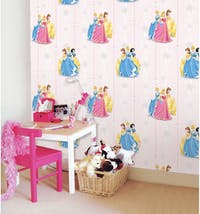 Interior DIY Hyundae Fixpix Wallpaper Sticker Dinding DG 11909 Pink Princess 50cm x 15m