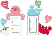 Interior DIY Hyundae Fixpix Sticker Dinding SCS 58252 Cute Animal Wall Sticker 35cm x 25cm