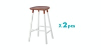 Malik Art Baccarat Bar Stool Putih (Isi 2 Unit)