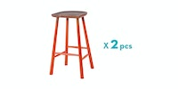 Malik Art Baccarat Bar Stool Oranye (Isi 2 Unit)