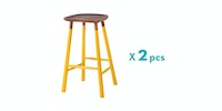 Malik Art Baccarat Bar Stool Kuning (Isi 2 Unit)