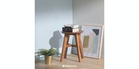 Sanders Gallery Stool Natural Jati