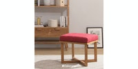 Sanders Gallery SQ Stool Walnut Sungkai Red