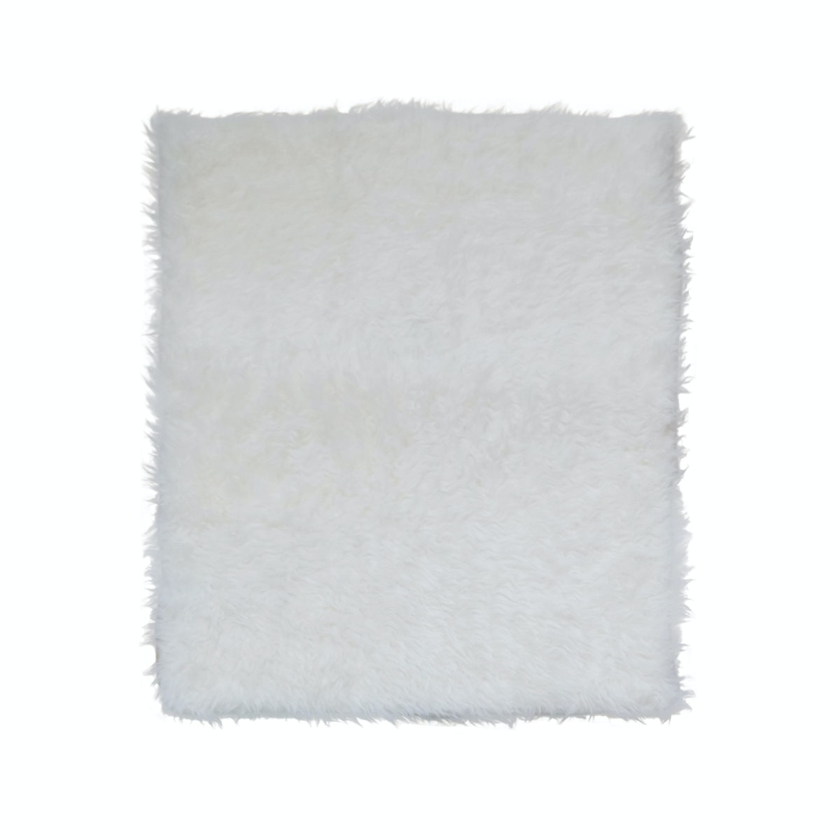Eclectic Home Decor Fuzzyfur Rug with antislip base & removable foam insert