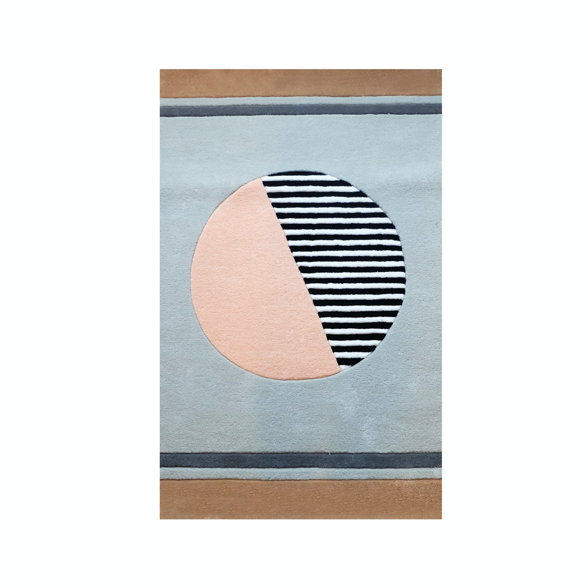 Eclectic Home Decor Circle Stripes Rug
