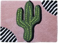 Eclectic Home Decor Cactus Stripes Doormat