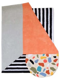 Eclectic Home Decor Cut Out Terrazzo Stripes Rug 160x120