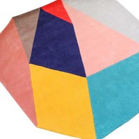 Eclectic Home Decor Cut Out Geometric Colorful Rug 170x170