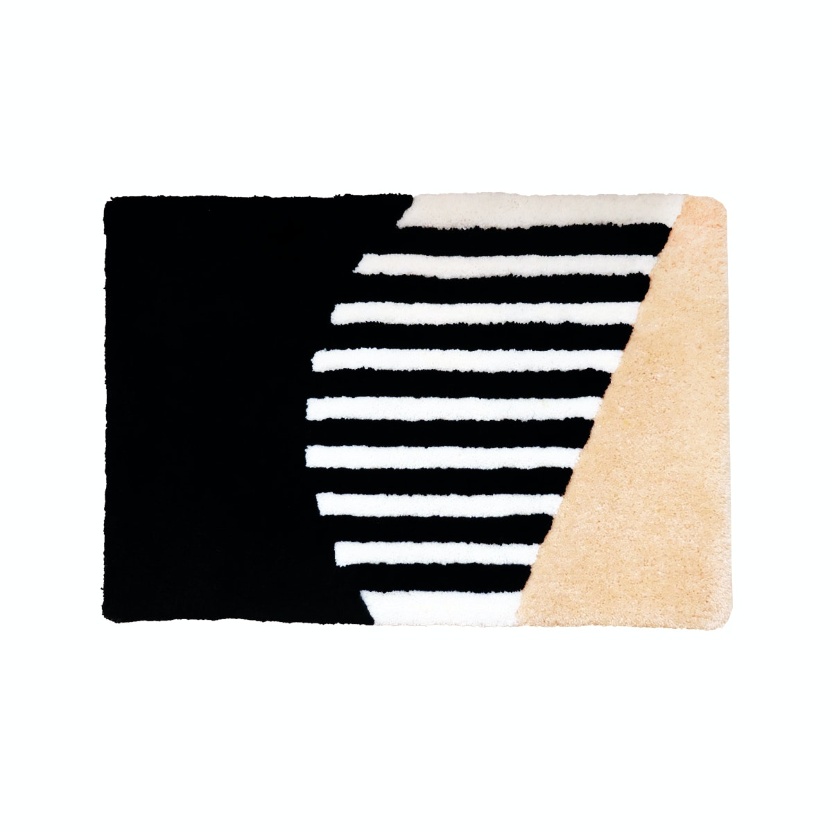 Eclectic Home Decor Creamy Stripes Doormat