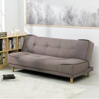 ebonia Sofa Bed Milan Fabric - Cokelat Muda